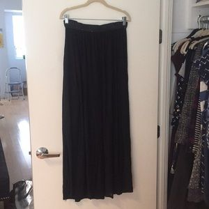 H&M Sheer Maxi Skirt, lined mini underneath, sizeS